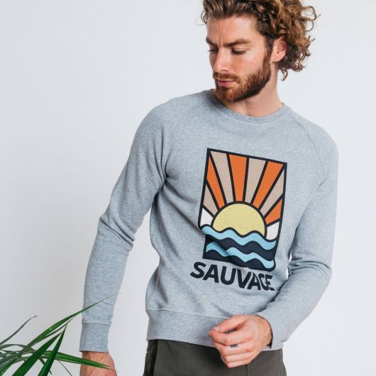 sweat shirt darney sauvage faguo grey in cotton spring summer 2020 for a mon image paris