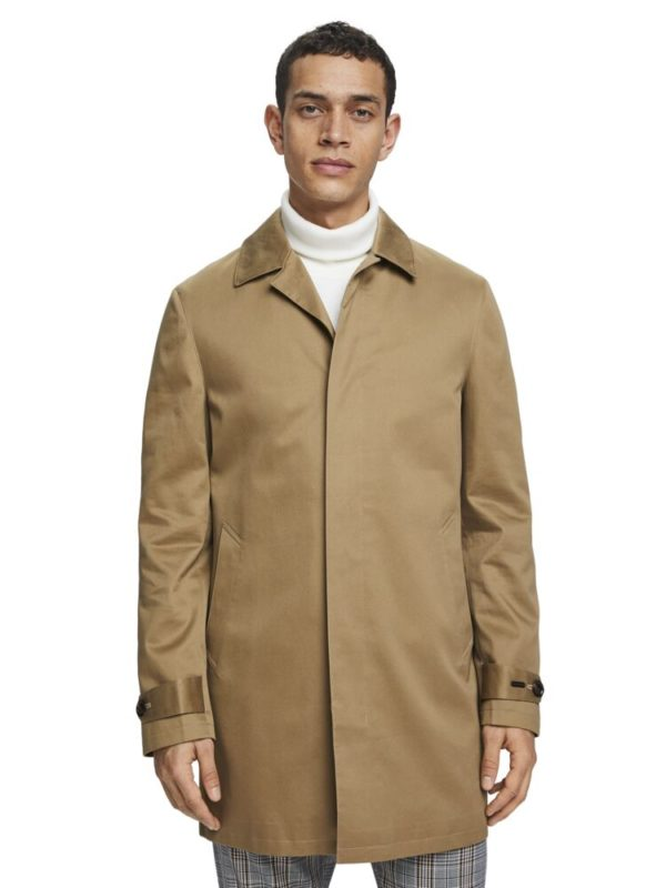 trench coat classic mid-length in cotton sandstorm color scotch & soda SS20