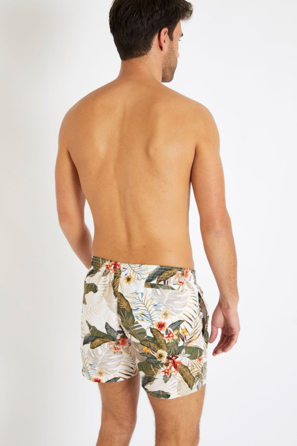 swim short in sand and kaki flowers by 1789 Cala SS20 for A Mon Image Paris